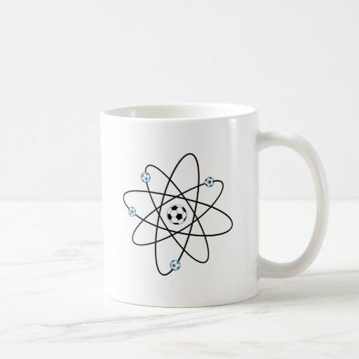 fútbol atómico taza básica blanca