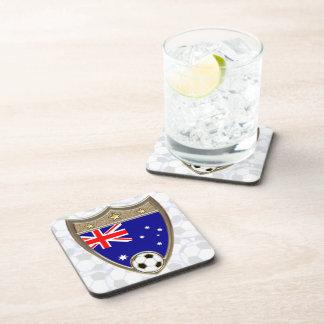 Fútbol australiano posavasos de bebida