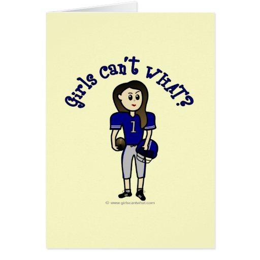Fútbol azul claro tarjeta de felicitación