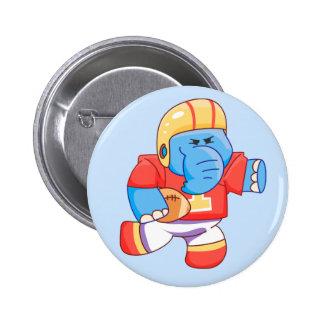 Fútbol azul del elefante de Lil Pins