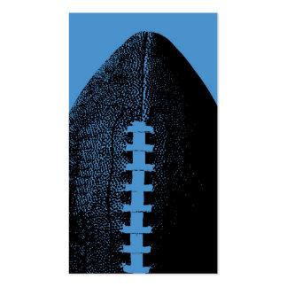 Fútbol azul plantilla de tarjeta de negocio