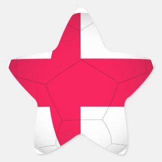 fútbol ball.jpg de Inglaterra Calcomanía Forma De Estrella Personalizadas
