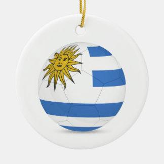 fútbol ball.jpg de Uruguay Adorno Navideño Redondo De Cerámica