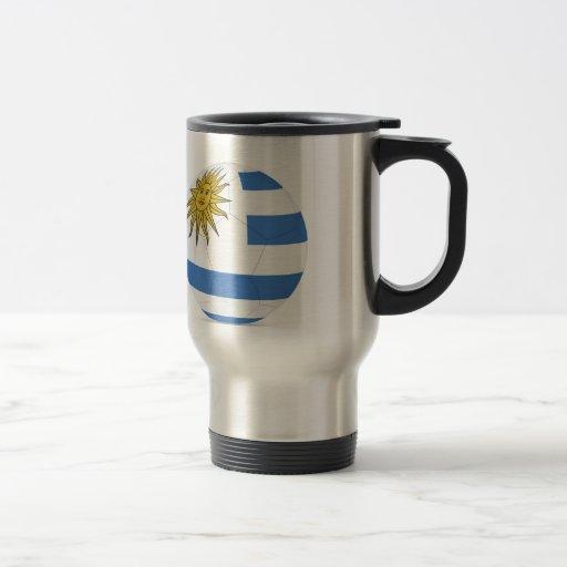 fútbol ball.jpg de Uruguay Taza De Viaje De Acero Inoxidable