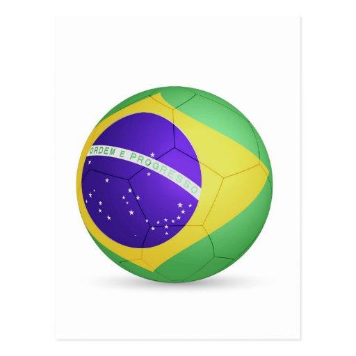 fútbol ball.jpg del Brasil Tarjeta Postal
