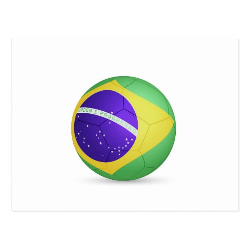 fútbol ball.jpg del Brasil Tarjetas Postales