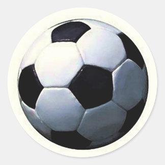 Fútbol - balón de fútbol pegatinas redondas