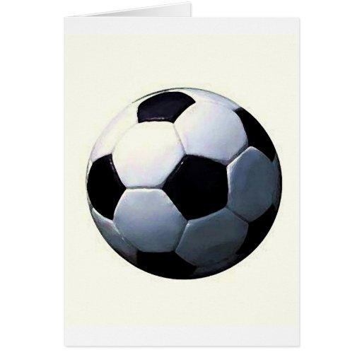 Fútbol - balón de fútbol tarjeta de felicitación