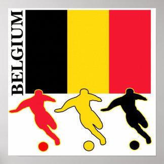 Fútbol Bélgica Póster