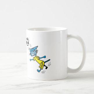 Fútbol Benny del EL Gato Azul Taza
