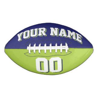 Fútbol BICOLOR del personalizado de la marina de Balón De Fútbol Americano