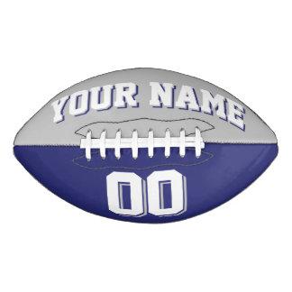 Fútbol BICOLOR del personalizado de los gris Balón De Fútbol Americano