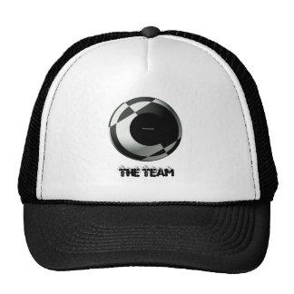 Fútbol blanco y negro (añada su fotografía) gorra