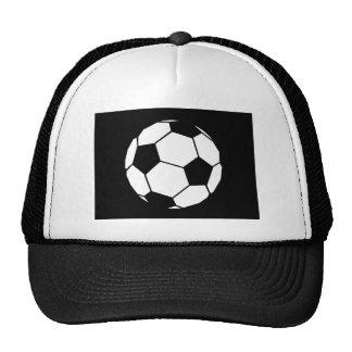 Fútbol blanco y negro gorras