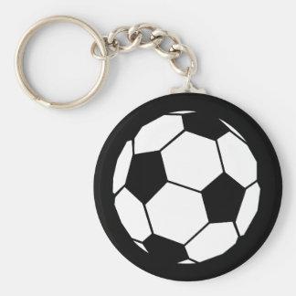 Fútbol blanco y negro llavero personalizado