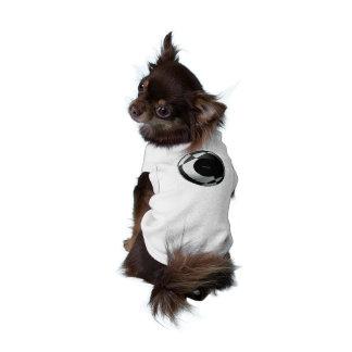 Fútbol blanco y negro playera sin mangas para perro