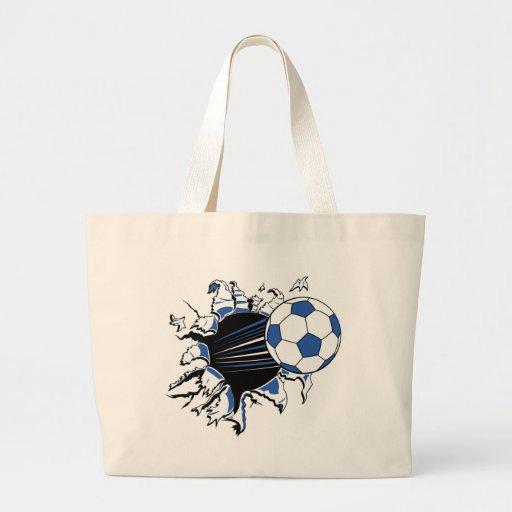 fútbol bolsa tela grande