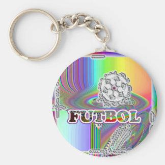 Futbol-botón… Español para el fútbol Llavero Redondo Tipo Pin