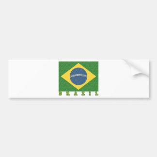 Fútbol brasileño 2010 pegatina de parachoque