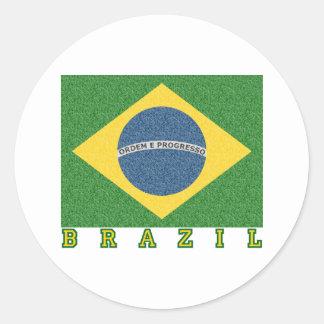 Fútbol brasileño 2010 etiqueta redonda