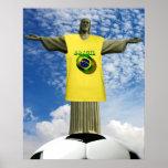 Fútbol brasileño 2014 de los ganadores del Brasil  Póster
