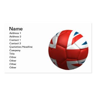 Futbol británico tarjetas de visita