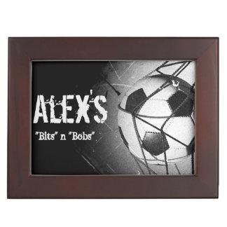 Fútbol/caja de encargo del recuerdo del jugador de cajas de recuerdos