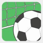 Fútbol Calcomania Cuadradas Personalizadas