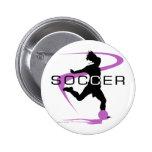 Fútbol - chicas - rosa pin