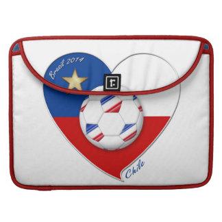 "Fútbol ""CHILE"" 2014. Chilean national soccer team Fundas Para Macbooks"