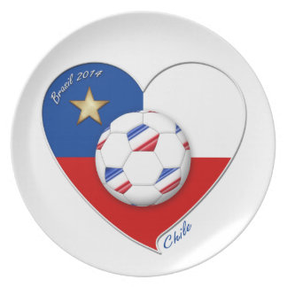 "Fútbol ""CHILE"" 2014. Chilean national soccer team Plato"