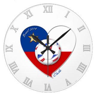 "Fútbol ""CHILE"" 2014. Chilean national soccer team Reloj De Pared"