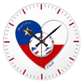 "Fútbol ""CHILE"" 2014. Chilean national soccer team Relojes De Pared"