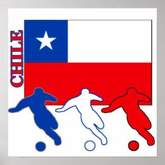 Fútbol Chile Póster