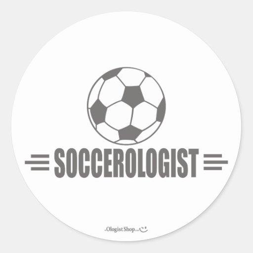 Fútbol chistoso pegatina redonda
