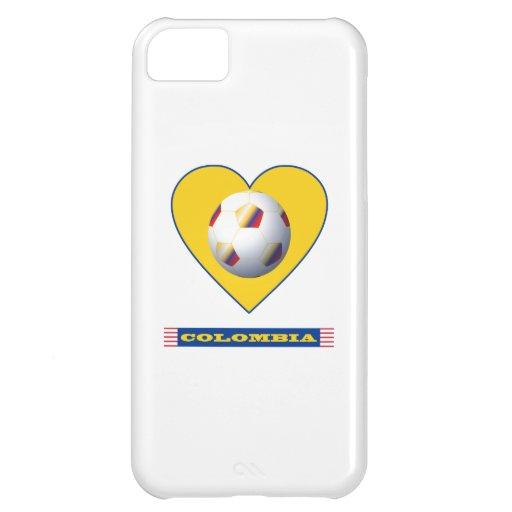 FÚTBOL COLOMBIA Corazón amarillo National Team Funda Para iPhone 5C