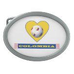 FÚTBOL COLOMBIA corazón amarillo national team Hebillas Cinturon