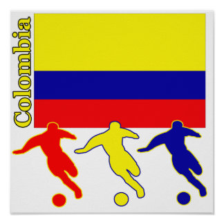 Fútbol Colombia Póster