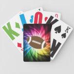 Fútbol colorido baraja cartas de poker