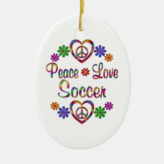 Fútbol colorido del amor de la paz ornamente de reyes