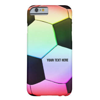 Fútbol colorido del fútbol el | de Personalizable Funda Para iPhone 6 Barely There