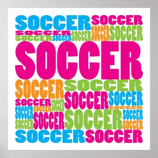 Fútbol colorido poster
