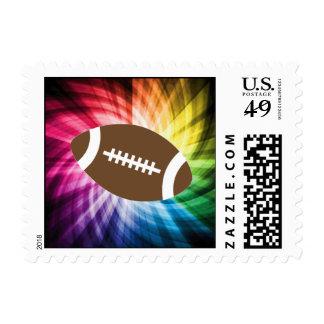 Fútbol colorido franqueo
