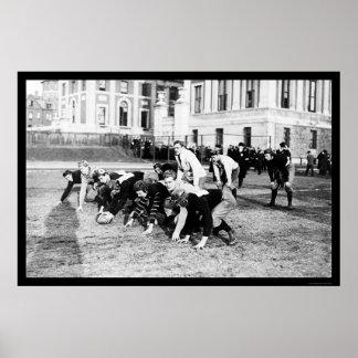 Fútbol Columbia 1914 del equipo universitario Impresiones