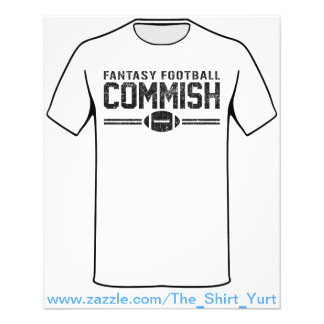 "Fútbol Commish de la fantasía Folleto 4.5"" X 5.6"""