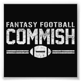 Fútbol Commish de la fantasía Fotografia