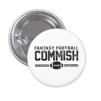 Fútbol Commish de la fantasía Pin Redondo 2,5 Cm