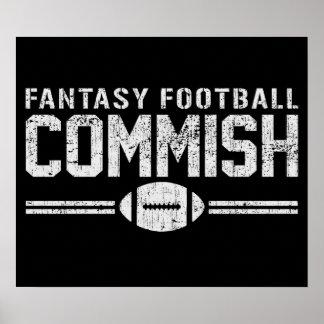 Fútbol Commish de la fantasía Póster