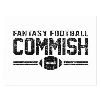 Fútbol Commish de la fantasía Postal
