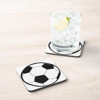 Fútbol con la bola posavasos de bebidas